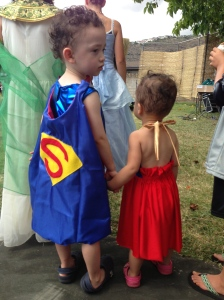 Superhero kids! Handmade costumes