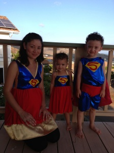 superhero family Handmade costumes